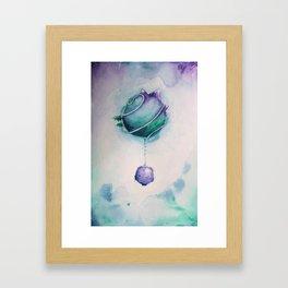 Planetary Moon Drips Framed Art Print