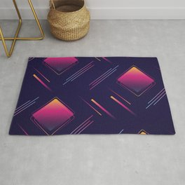 Future Portals Synthwave Aesthetic Rug