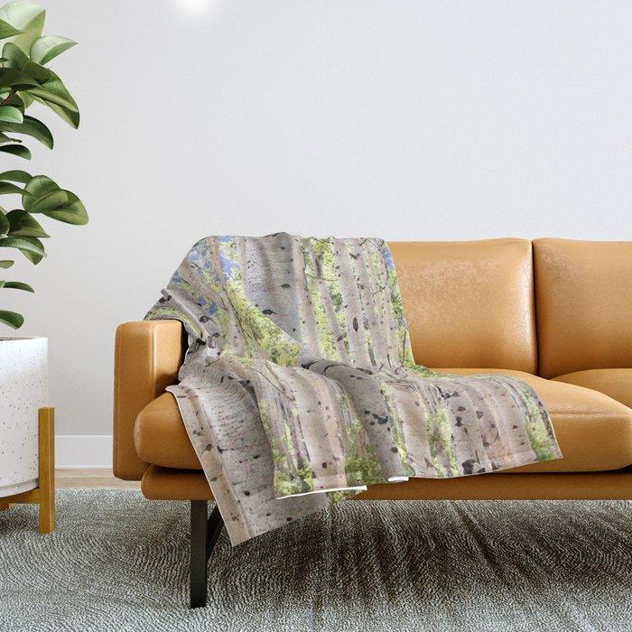 Dreamy Aspen Grove Throw Blanket