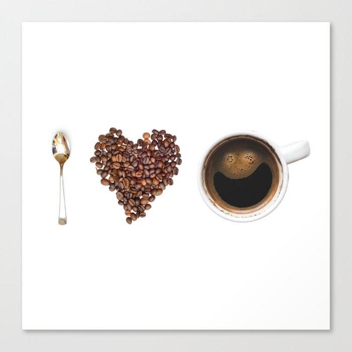 I Love Coffee Canvas Print