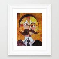 nietzsche Framed Art Prints featuring Friedrich Nietzsche by Renee Bolinger
