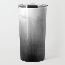 Modern Black and White Watercolor Gradient Travel Mug