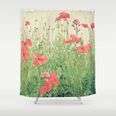 Sea of Red Shower Curtain