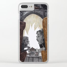 A fireplace Clear iPhone Case