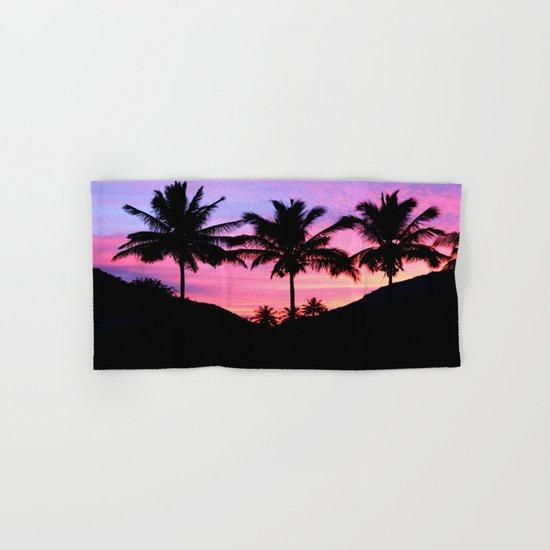 Sunset Palm Trees Hand & Bath Towel