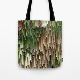 Ever Green Cascade Abstract Tote Bag