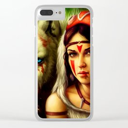 Wolf Girlfriend Clear iPhone Case