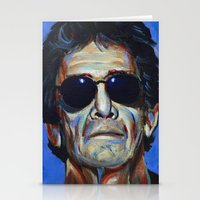 lou reed Stationery Cards featuring Lou Reed by Buffalo Bonker