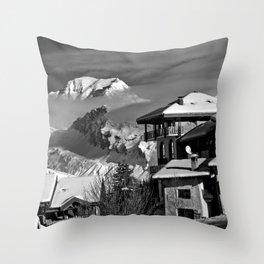 Mont Blanc Peisey-Vallandry Les Arcs French Alps France Throw Pillow