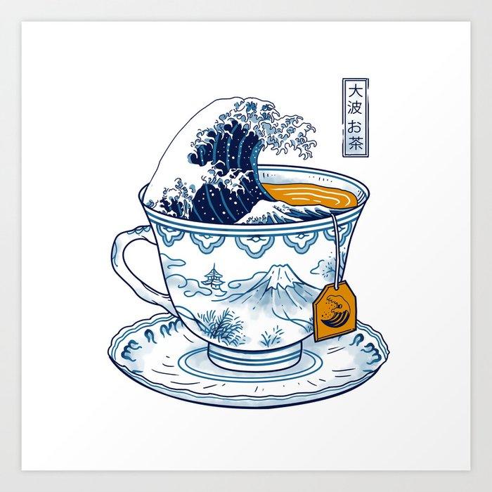 The Great Kanagawa Tee Art Print