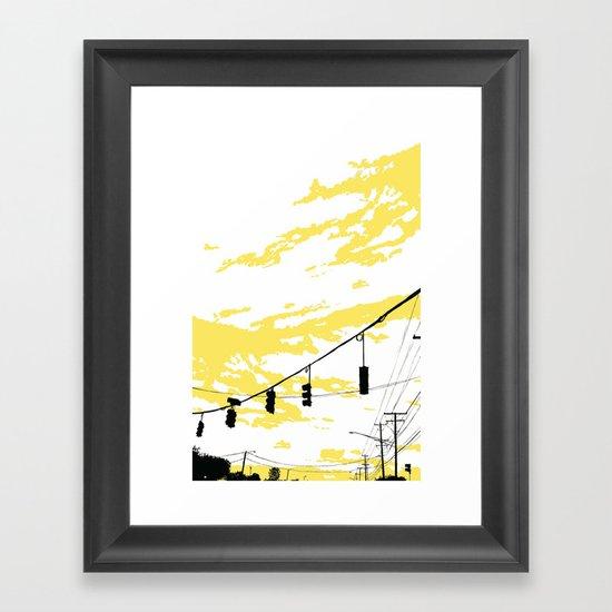 Skylines Framed Art Print