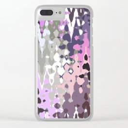 Violet shades icicles, abstract geometric jagged shapes, sharp forms Clear iPhone Case