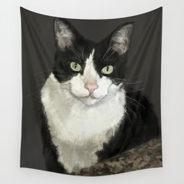 Cat Eightball Wall Tapestry