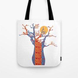African Baobab tree of life at Sunset Tote Bag