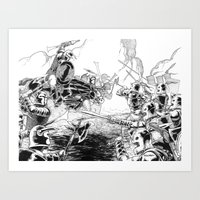 The Battle Begins Art Print
