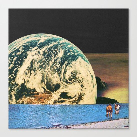 Distant beach Canvas Print