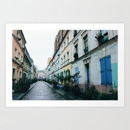 Rue Crémieux Houses Art Print