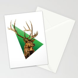 LOW POLY ELK Stationery Cards