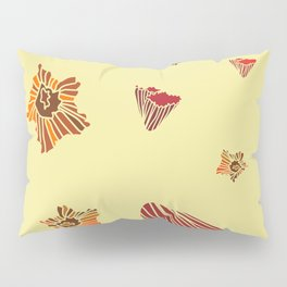 Snazzy Fall Flowers on Creme Pillow Sham