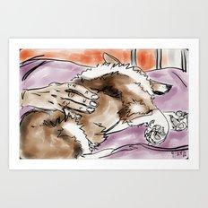 Corgi 3 Art Print
