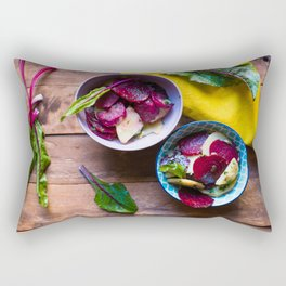 Beetroot and Potato salad Rectangular Pillow