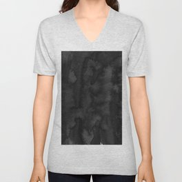 Black Ink Art No 2 Unisex V-Neck