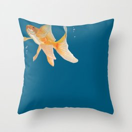 Fish & Bubbles Throw Pillow
