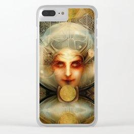 """Art Deco Retro The Chimera"" Clear iPhone Case"