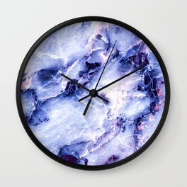 Purple Marble Wall Clock