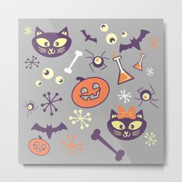eek, boo, and treats Metal Print