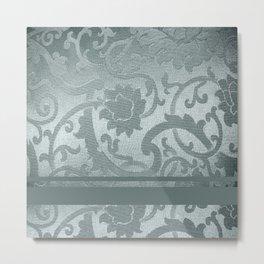 FLORAL SHADOW TAPESTRY | silver Metal Print