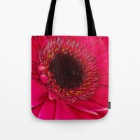 hot pink Tote Bags featuring Hot Pink by Paul & Fe Photography