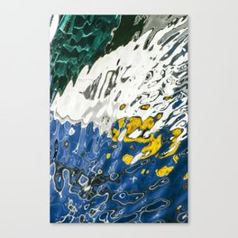 Yellow Blue Green Abstract Canvas Print