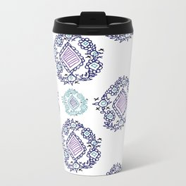 doodle ikat Metal Travel Mug