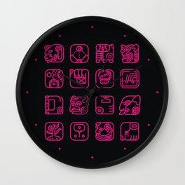 Maya Writing System Wall Clock