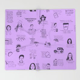 Gilmore Girls Quotes in Purple Throw Blanket
