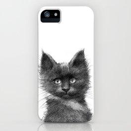 Black Kitten SK135 iPhone Case