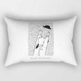A Man In The Windy City Rectangular Pillow