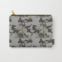 Urban Camouflage Camo  Black Silver Army Uniform  Carry-All Pouch