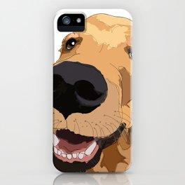 Golden Retriever Love iPhone Case