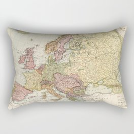 Atlas Map of Europe (1912) Rectangular Pillow