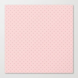 Small Two Tone Blush Pink Polka Dot Spots Canvas Print