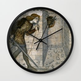 "Edward Burne-Jones ""Theseus and the Minotaur in the Labyrinth"" Wall Clock"