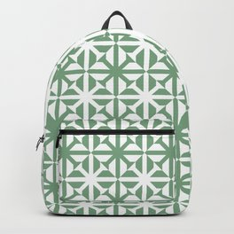 Spring geomentric concrete tiles pattern sage green Backpack