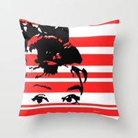 audrey Throw Pillows featuring Audrey by NoMoreWinters