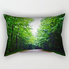 Winding Road in Forest Rectangular Pillow
