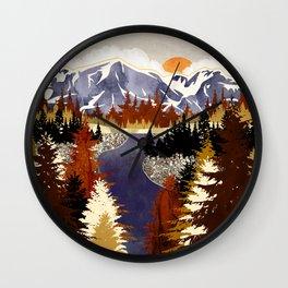 Autumn River Wall Clock