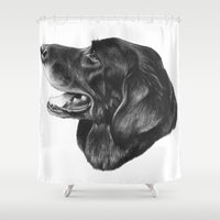 best friend Shower Curtains featuring Best Friend by Moose Art