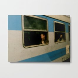 train = window Metal Print