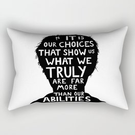 Harry Potter choices quote  Rectangular Pillow